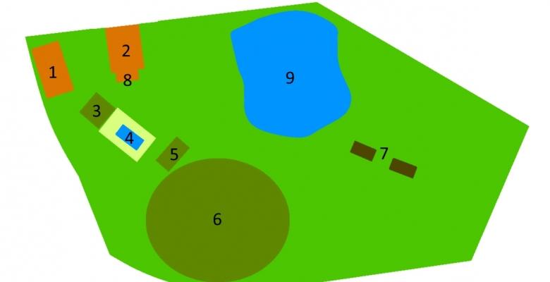 Plan des baronnies